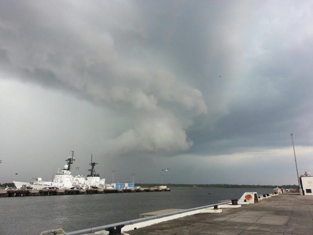 Tornado Vortice over Cooper River in Charleston, SC today ...