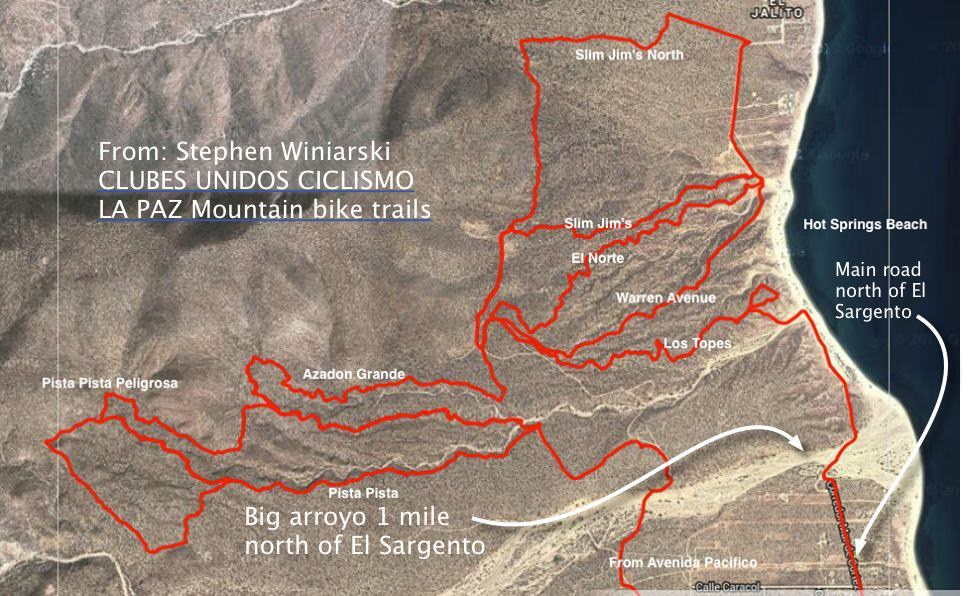 bike trails El Sargento
