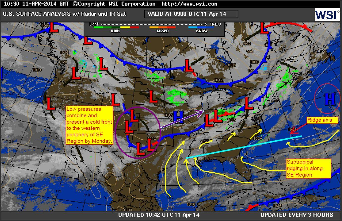 Subtropical Ridging 4-11-14