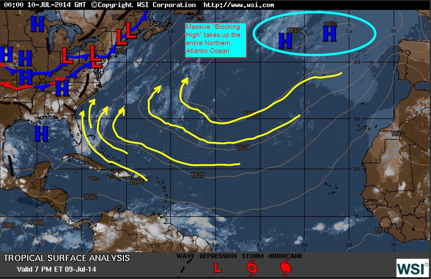 Bermuda-Azores High Reigns in July. – Blog.WeatherFlow.com