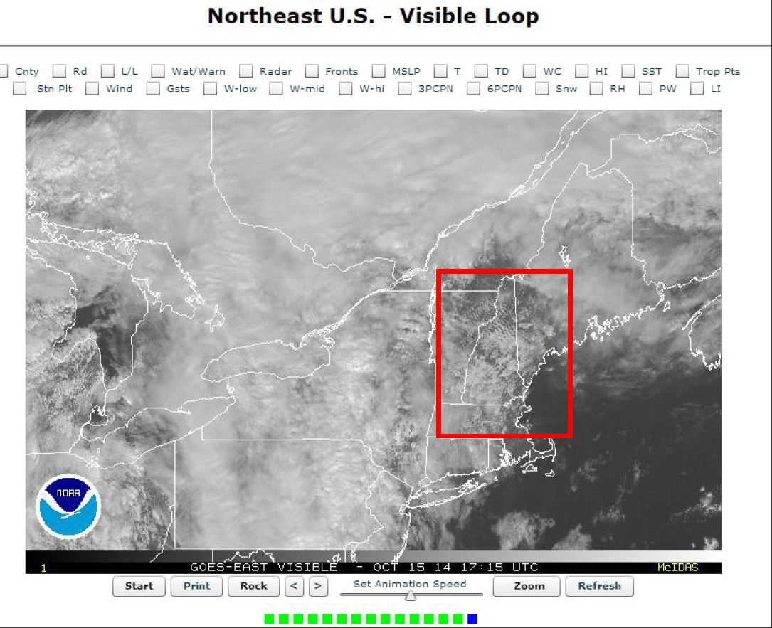 Gravity Waves over New Hampshire/Vermont