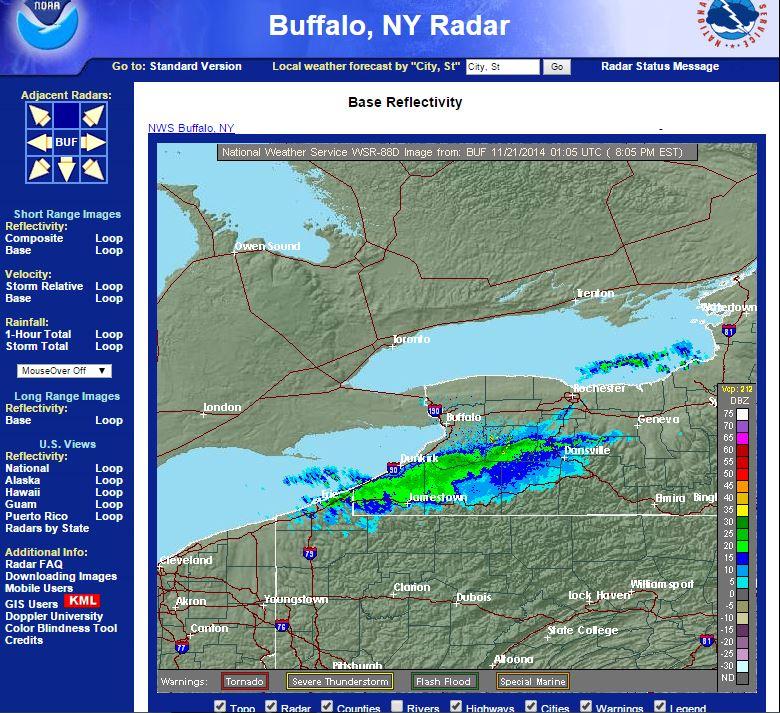 Buffalo radar 11.20.2014
