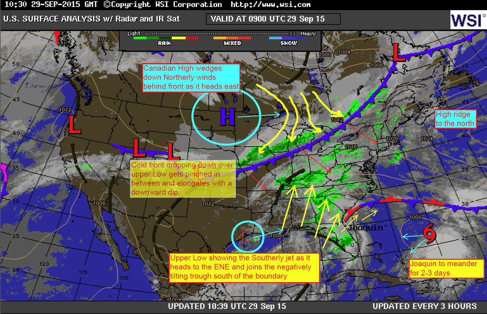The October Flooding Event Of  An Indepth Analysis  Blog - Us weather map with high and low pressure