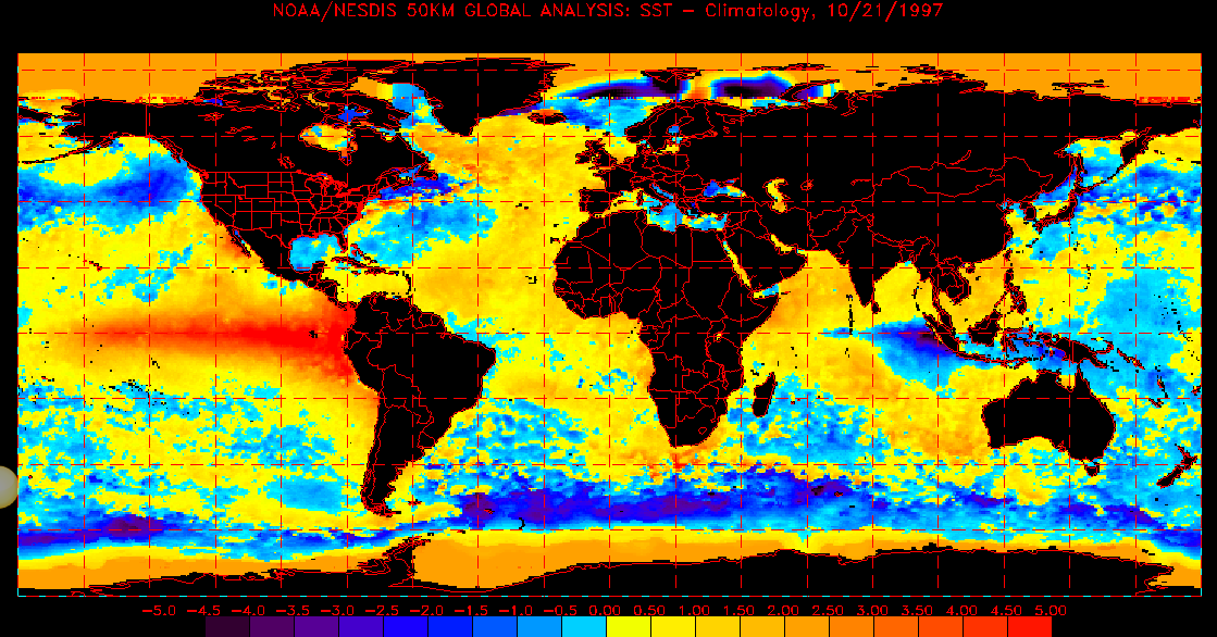 Global Sea Surface Temperatures 1997