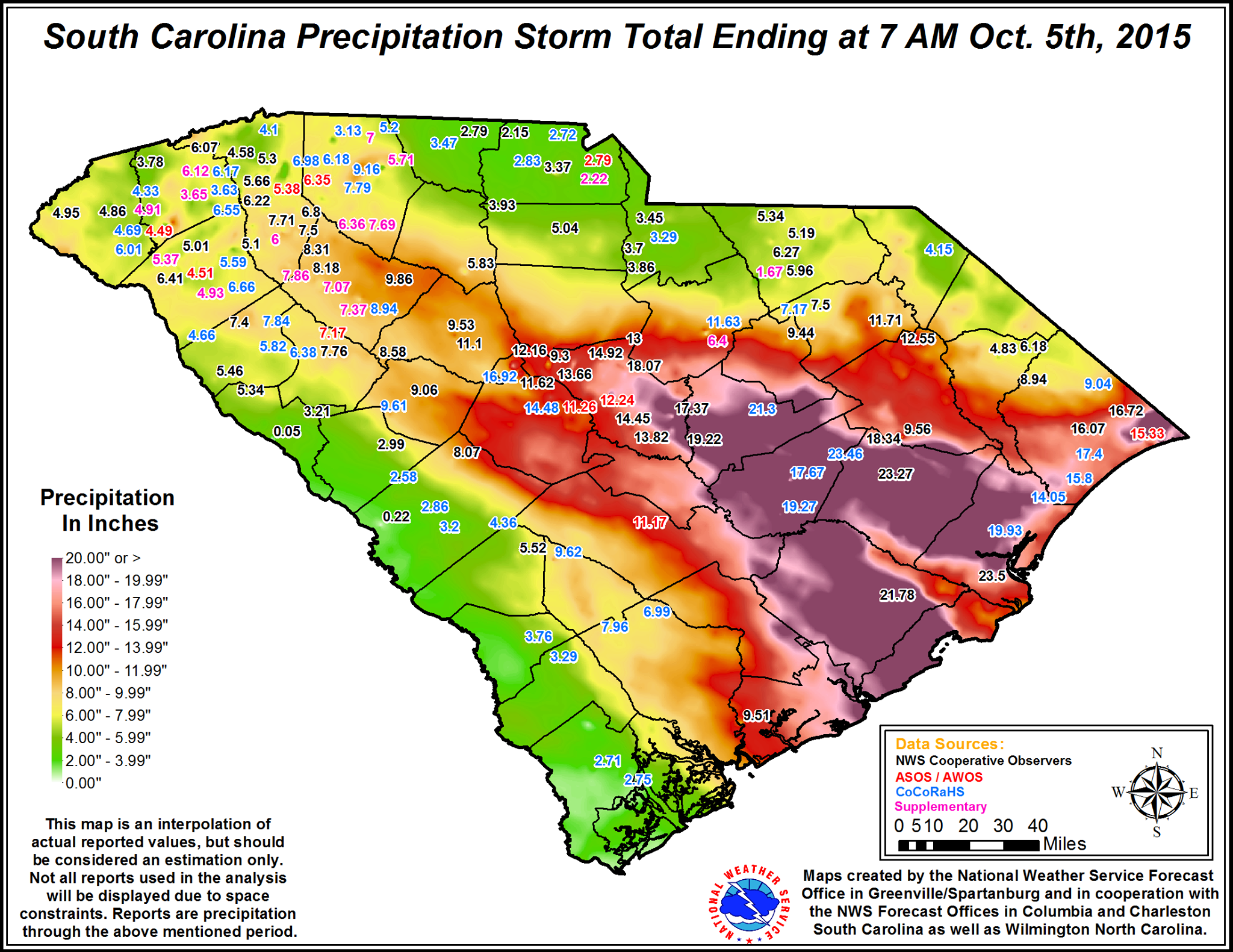 The October Flooding Event of 2015 An indepth analysis  Blog