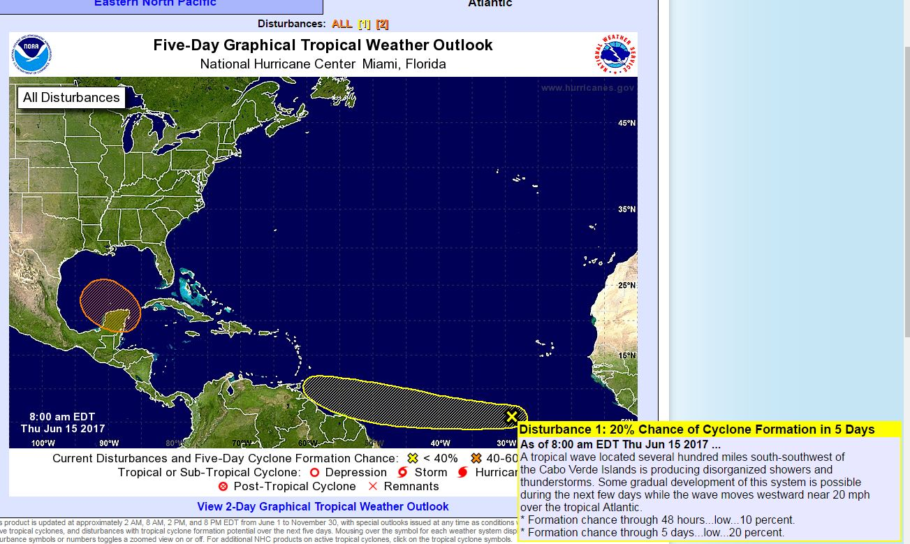 Atlantic tropical weather outlook