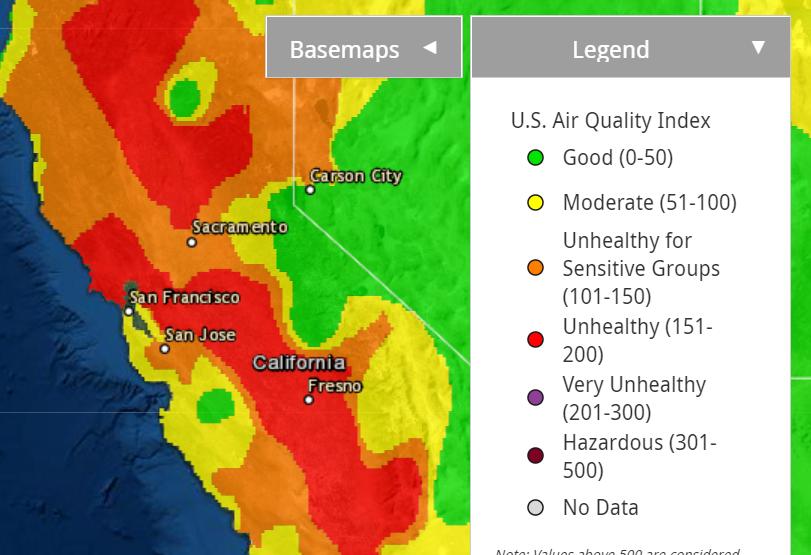 Air quality forecast for Oct 4, 2020.